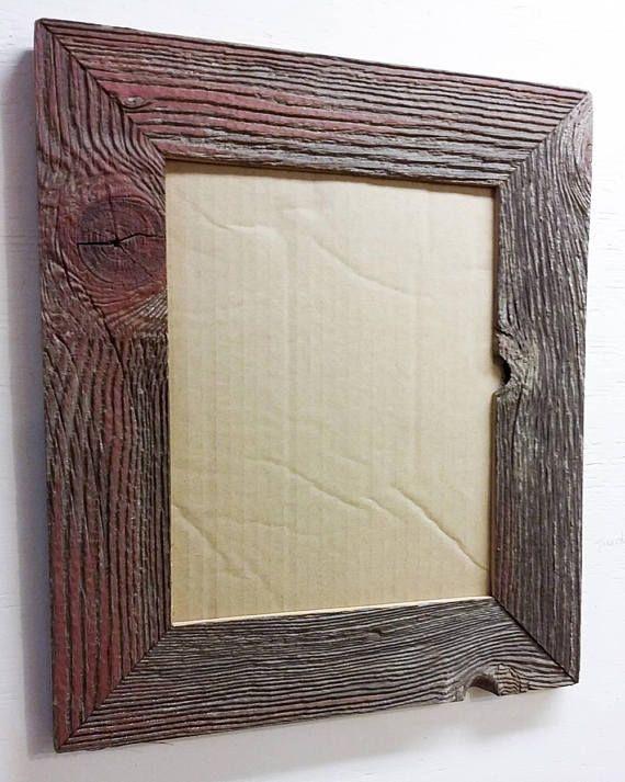 8 x 10 Inch Reclaimed BarnWood Frame. Century Old Barn Wood ...