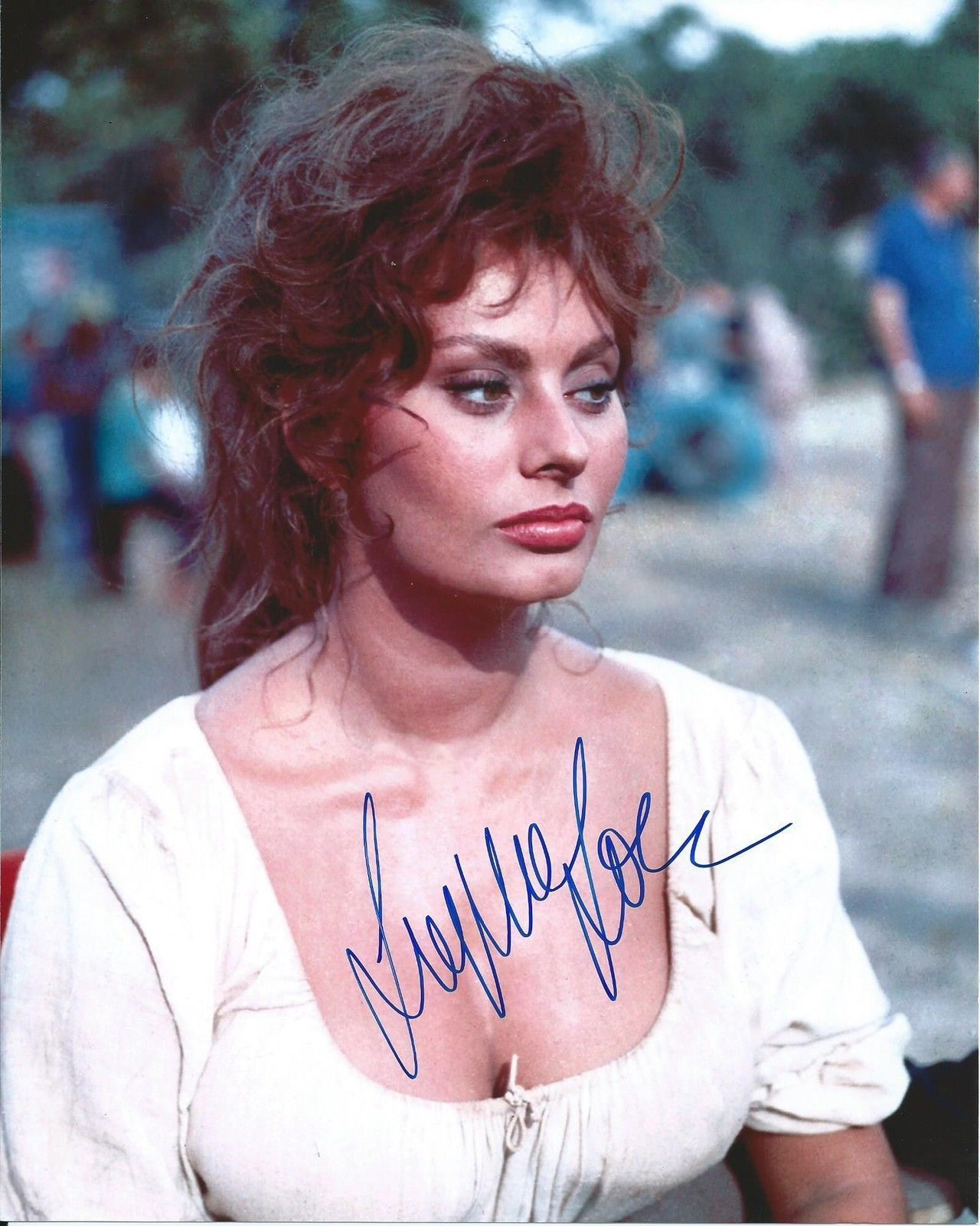 Gorgeous Autograph Signed 8x10 Photo: Sophia Loren Sexy Beautiful Signed Authentic Autographed