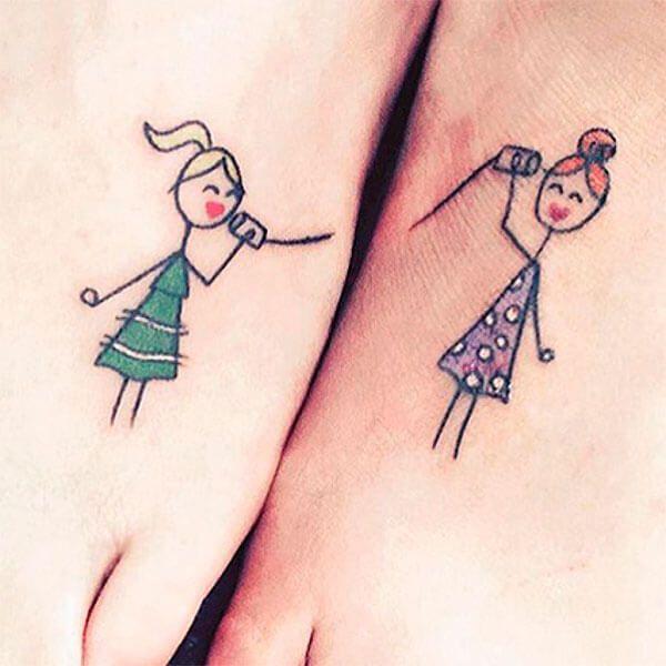 Los Tatuajes A Juego O Tatuajes Para Parejas Son Una Representación