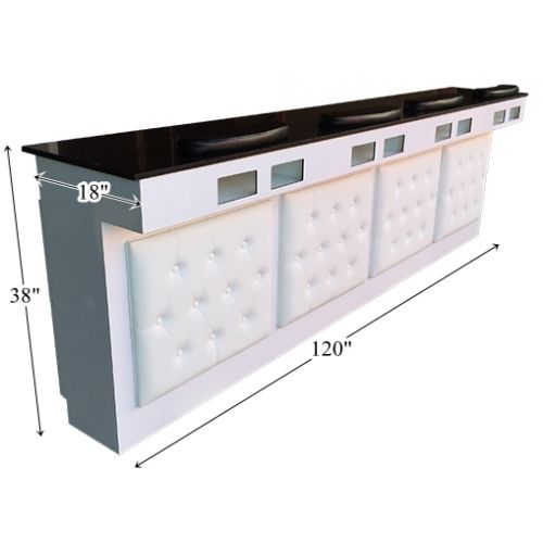 Beau Beauty Salon Furniture   Manicure Bar Station With Tufted Leather Model #  MBS 2500