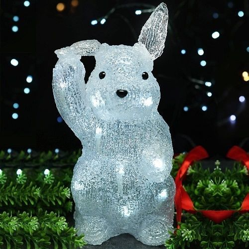 Easter bunny decoration light up 11 inch indoor outdoor lighted easter bunny decoration light up 11 inch indoor outdoor lighted prop led garden aloadofball Images