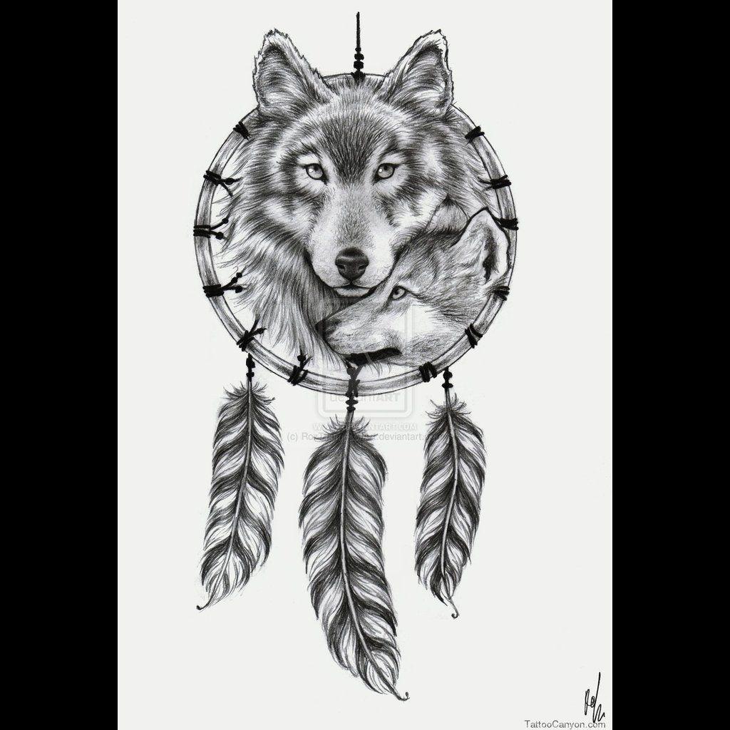 Dream Catcher Wolf And Pup Tattoo Designs Wolf Dreamcatcher Tattoo Design By Rozthompsonart Wolf Dreamcatcher Tattoo Dream Catcher Tattoo Wolf Tattoo Design