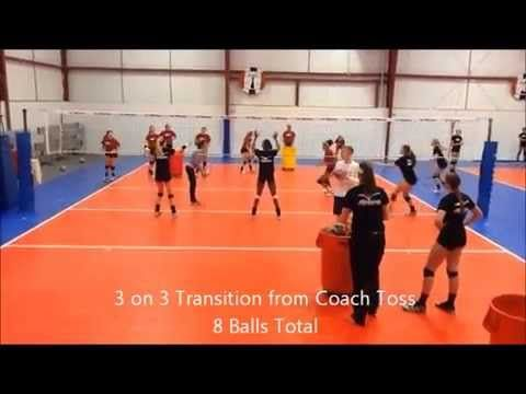 Jva Coach To Coach Video Of The Week Competitive Warm Up Drill Youtube Drill Coach Volleyball Drills