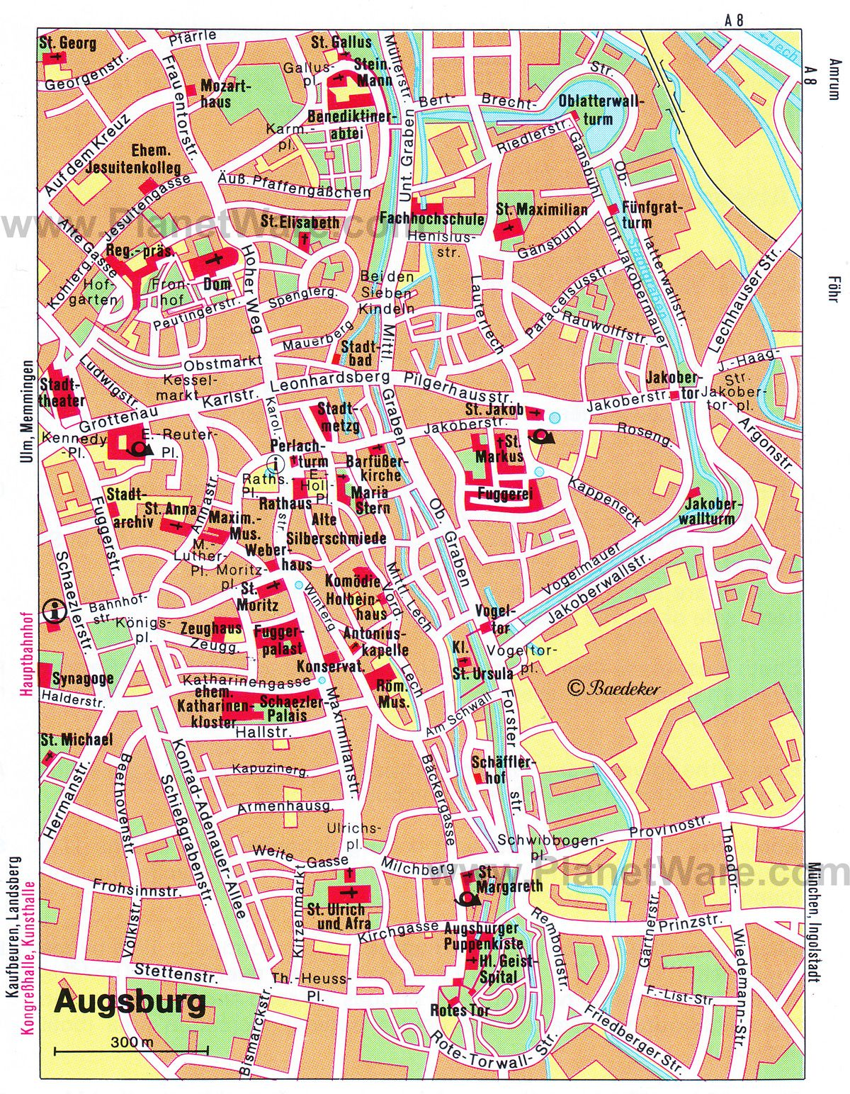 Augsburg Shopping Map Of Augsburg Attractions Planetware Maps