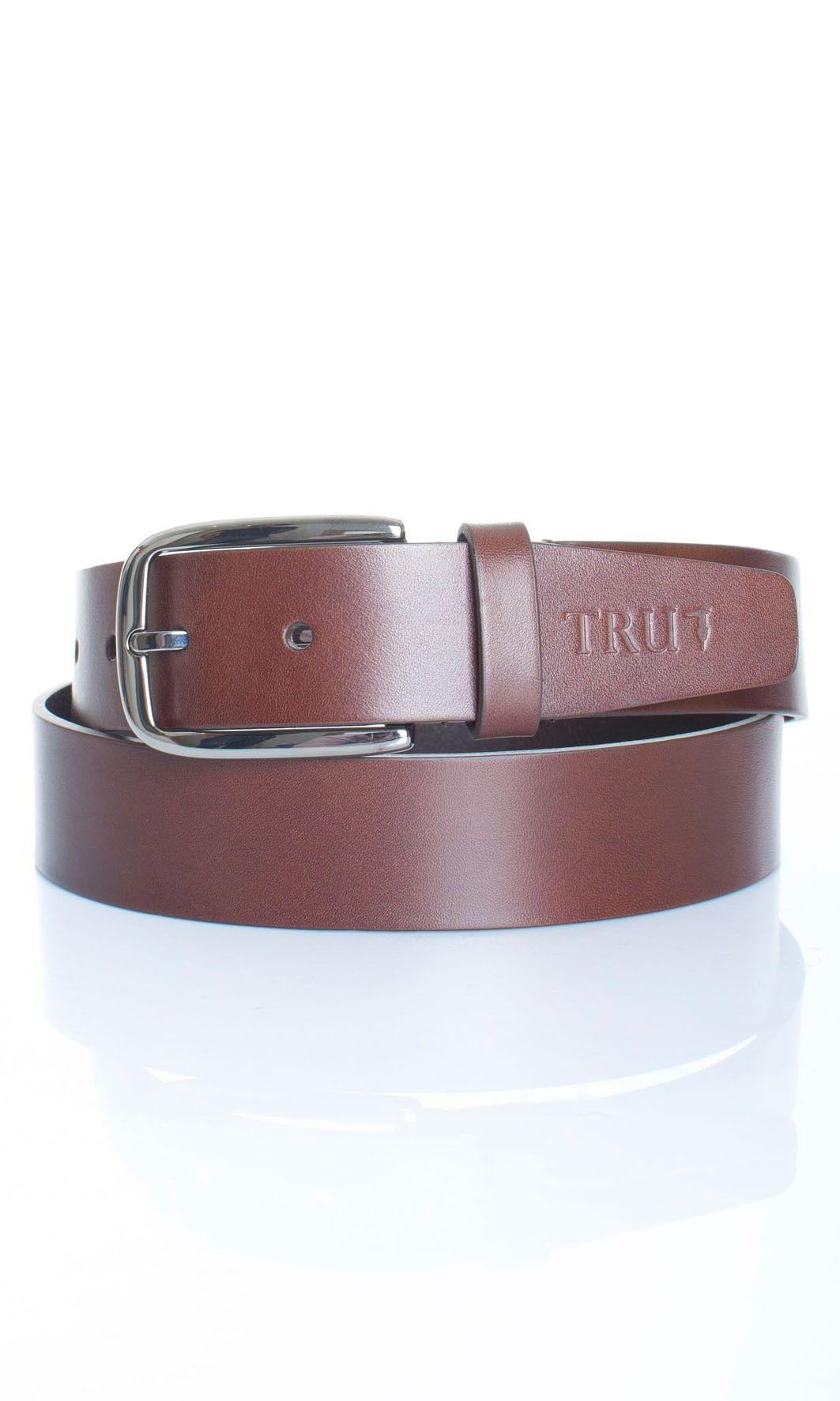 Tru Trussardi | Cintura In Vitello Tru Trussardi Uomo Col. Marrone - Shop Online su Dursoboutique.com 52C015J336