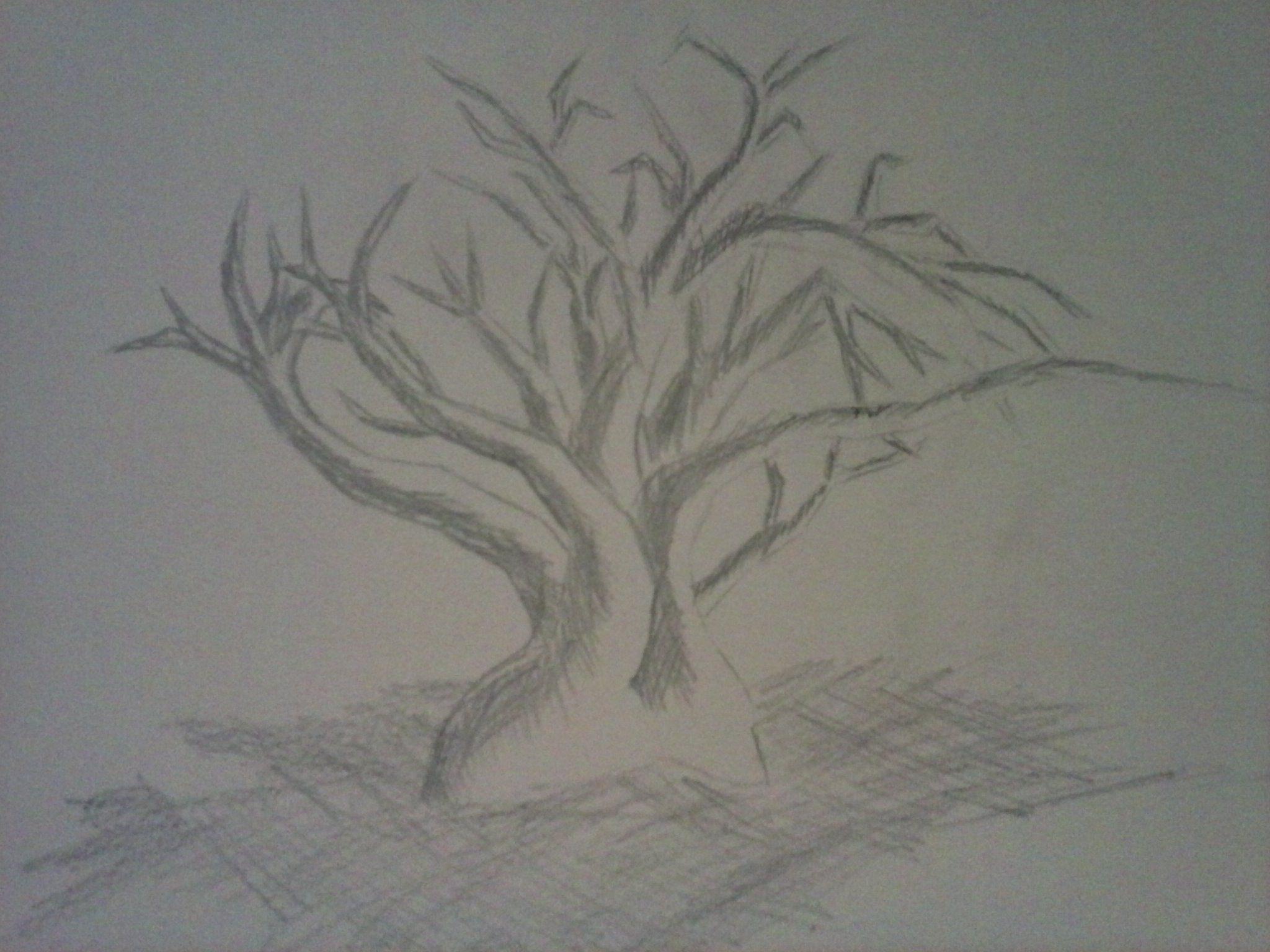 Baum mit Schatten, Mangastyle
