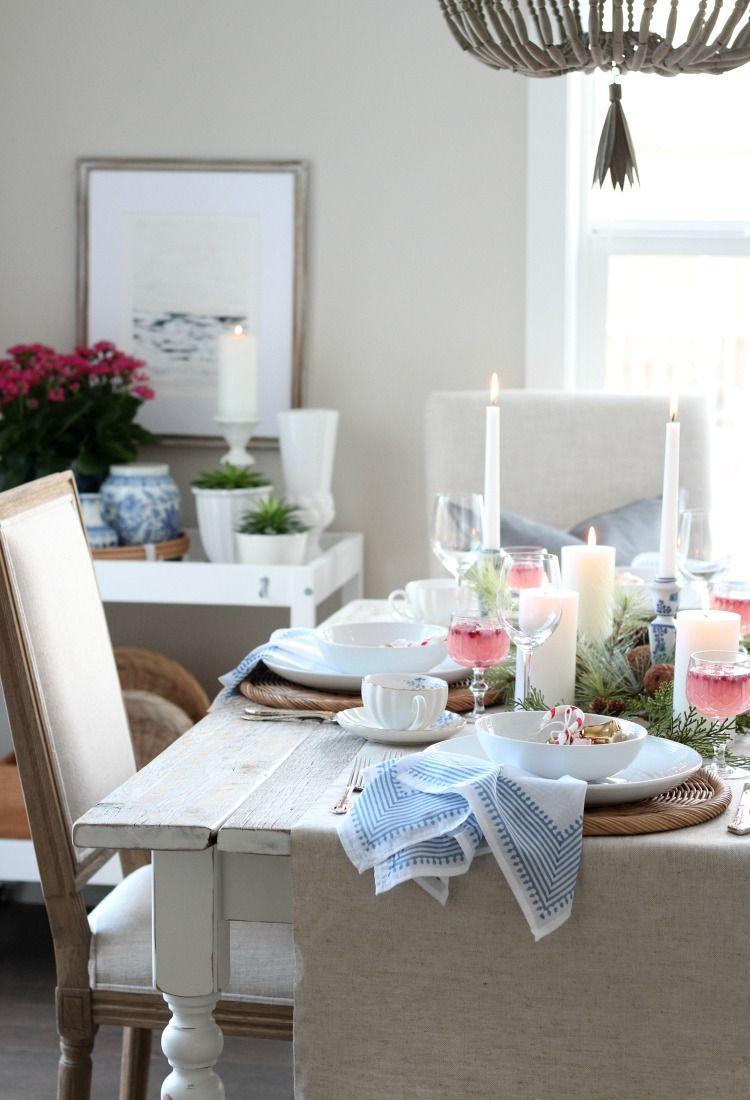 Christmas Tablescape With Pops Of Colour Decor Christmas Table Centerpieces Creative Decor