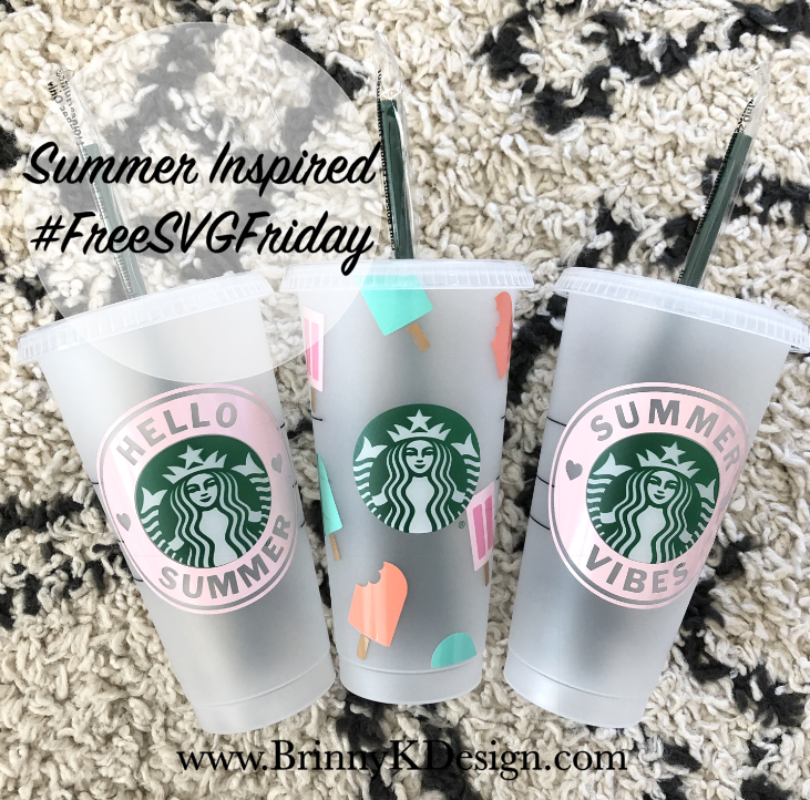 Hello Summer Starbucks Cup Free Svg Download For Cricut And Silhouette Users In 2020 Starbucks Cups Starbucks Diy Starbucks