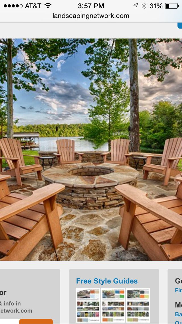 Brush Creek Ranch // More Photos | Info, Pics, Maps + More ... |Dude Ranch Fire Pit