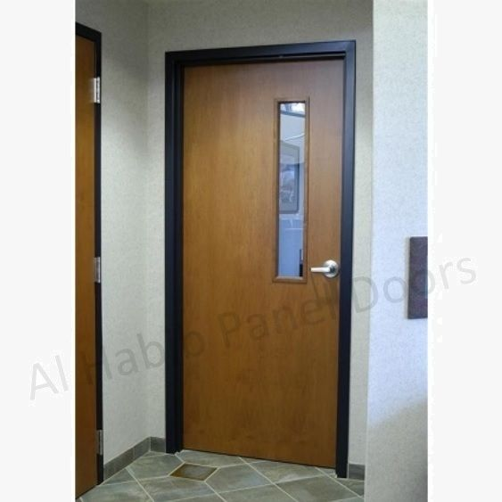 Flush door with side vision glass hpd510 commercial - Commercial interior doors with window ...
