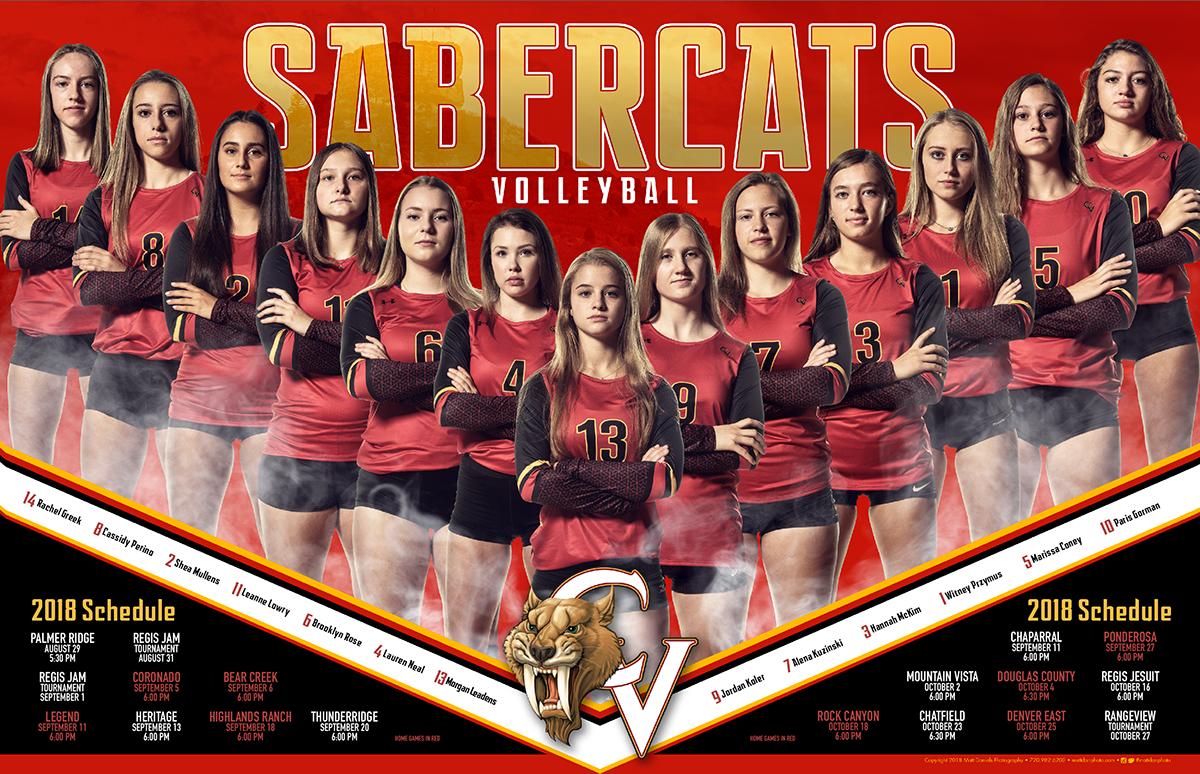 2018 Castle View Volleyball Team Poster Copyright 2018 Matt Daniels Photography Sports Team Photography Volleyball Team Pictures Sport Poster