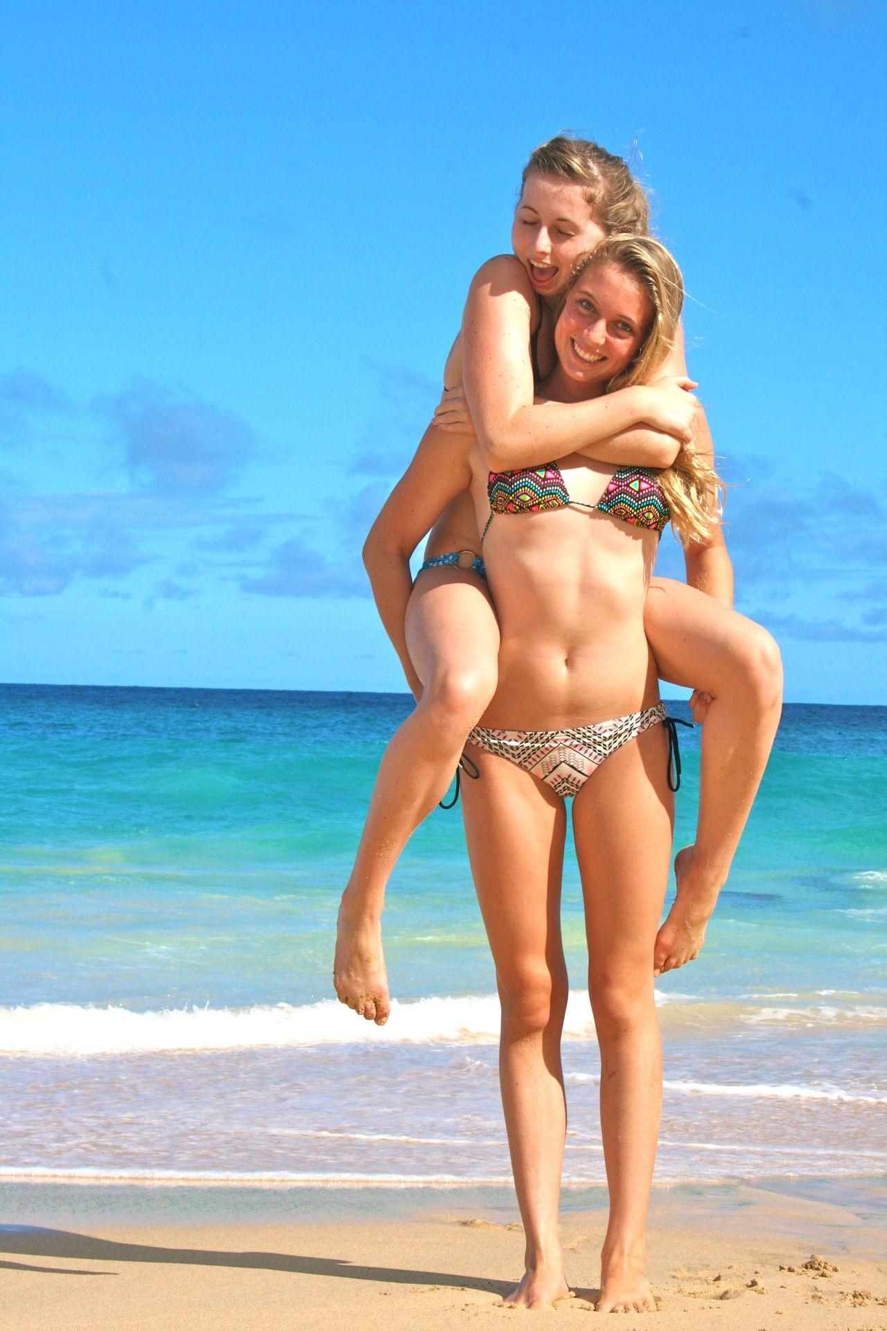 bikini friend fun woman Beach