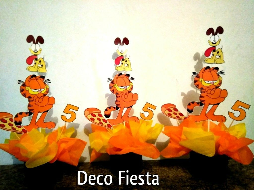 Centros De Mesa Garfield 3rd Birthday Party For Boy Garfield Birthday Birthday Party Decorations