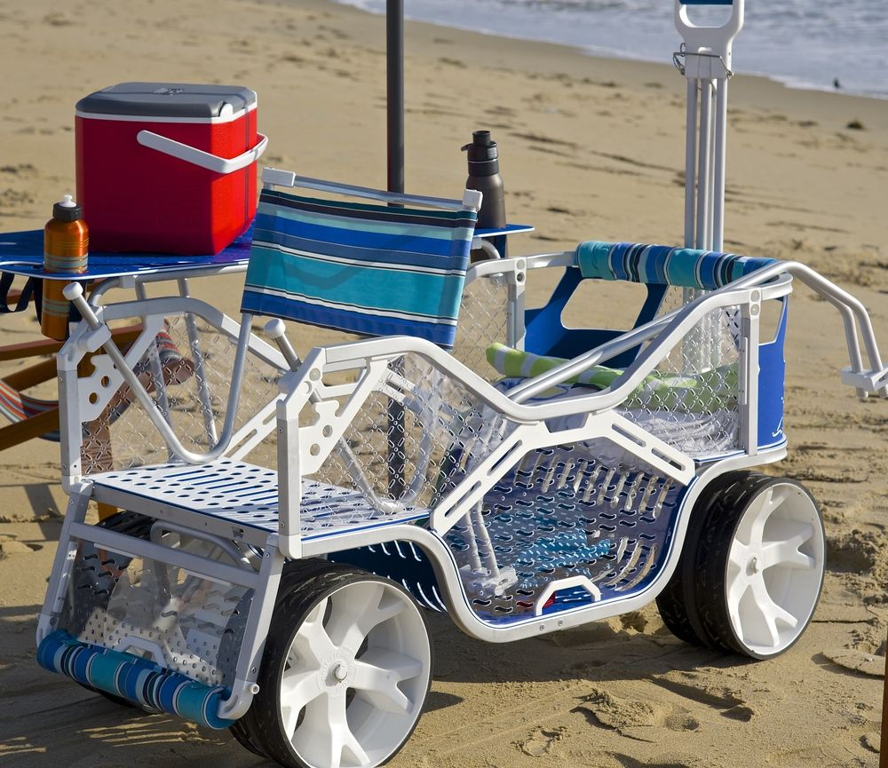 beach wagon with wheels for the deep sand