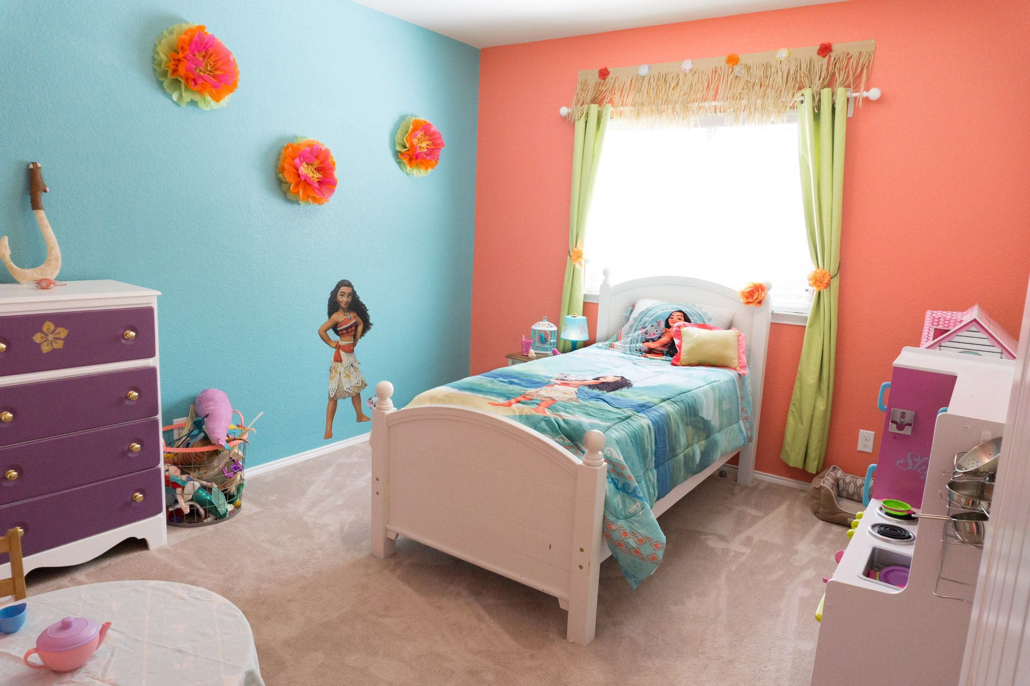 Bedroom Theme Moana Themed Girls Bedroom Cailyns Room In New House