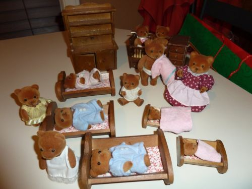18 Pcs Wooden Teddy Bear Story Doll House Furniture Includes Bears Bears  Furniture 18 Pcs Wooden Teddy Bear Story Doll House Furniture Includes Bears  And ...