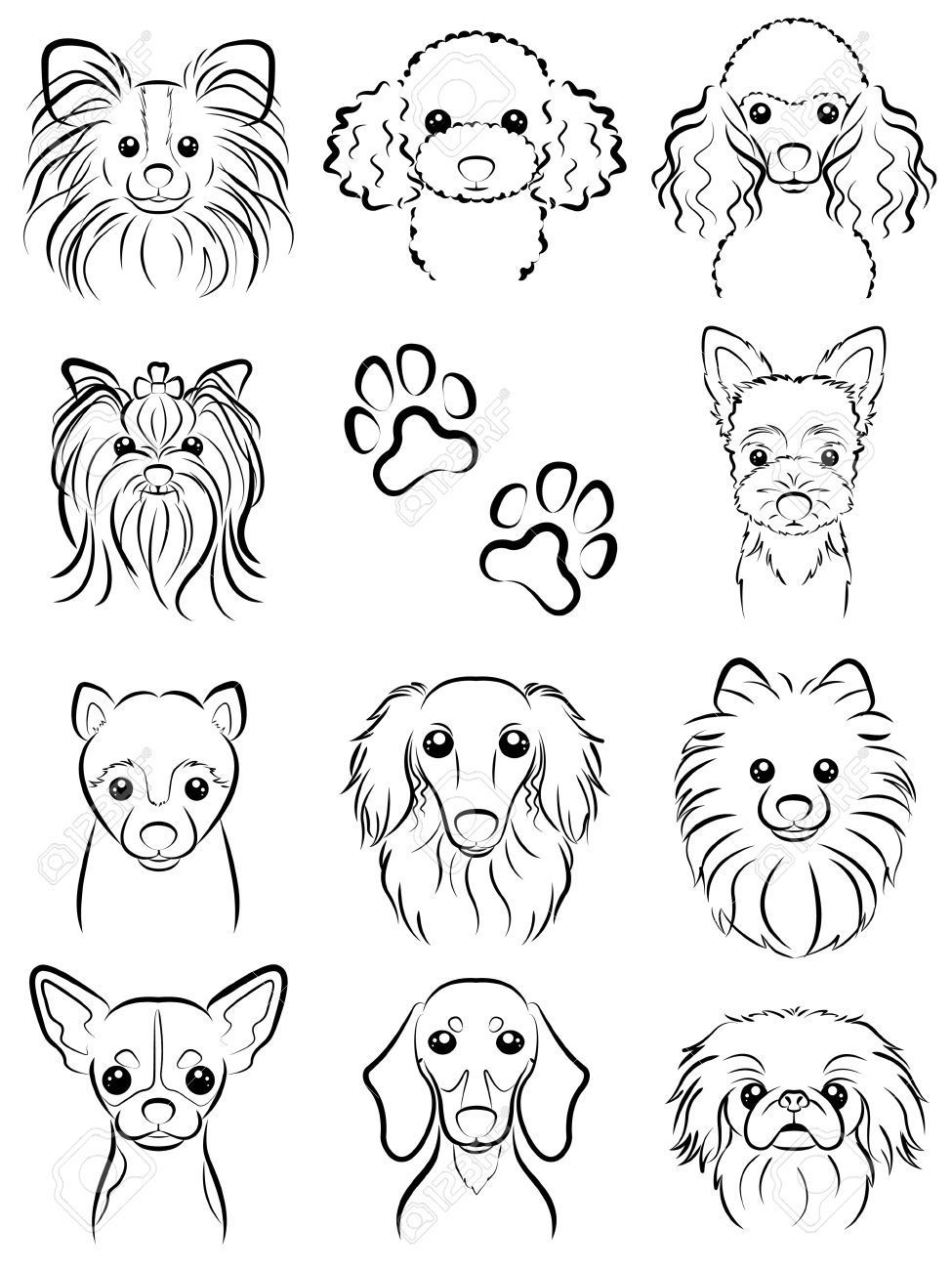 Dog Line Drawing Stock Vector 31655861 Dogdrawing School Art