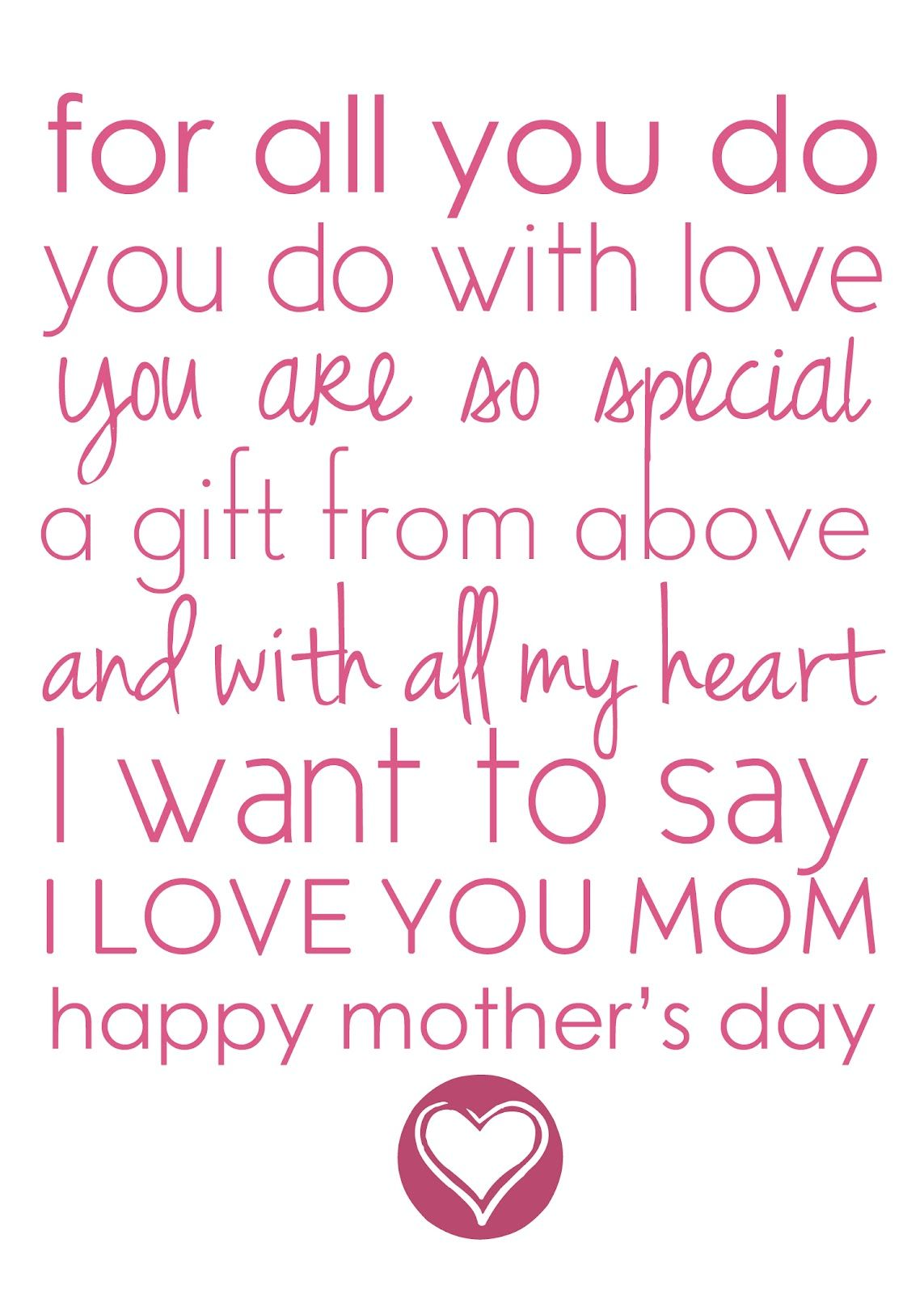 Cute Mothers Day Poems 6