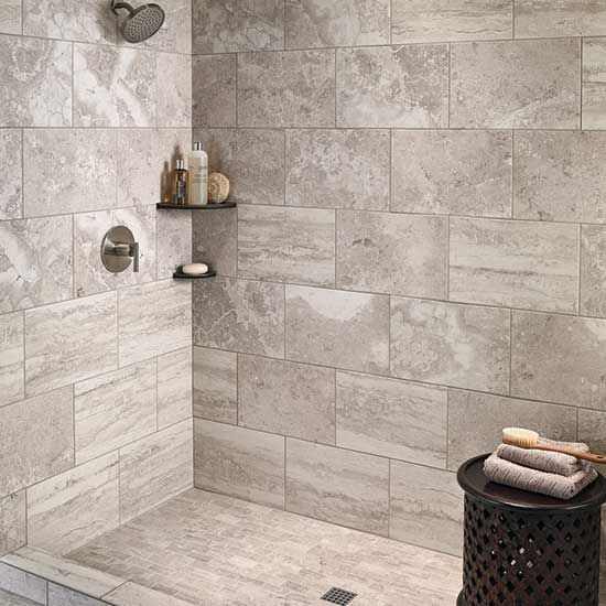 12x18 Tile Marble Shower Google Search In 2020 Daltile Tile Bathroom Bathroom Construction
