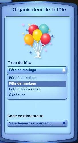 anniversaire de mariage sims 3