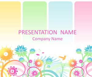 Plantillas coloridos power point coloridos los nios y la colorful powerpoint template with an illustration of pastel swirly flowers hummingbird and butterflies toneelgroepblik Images