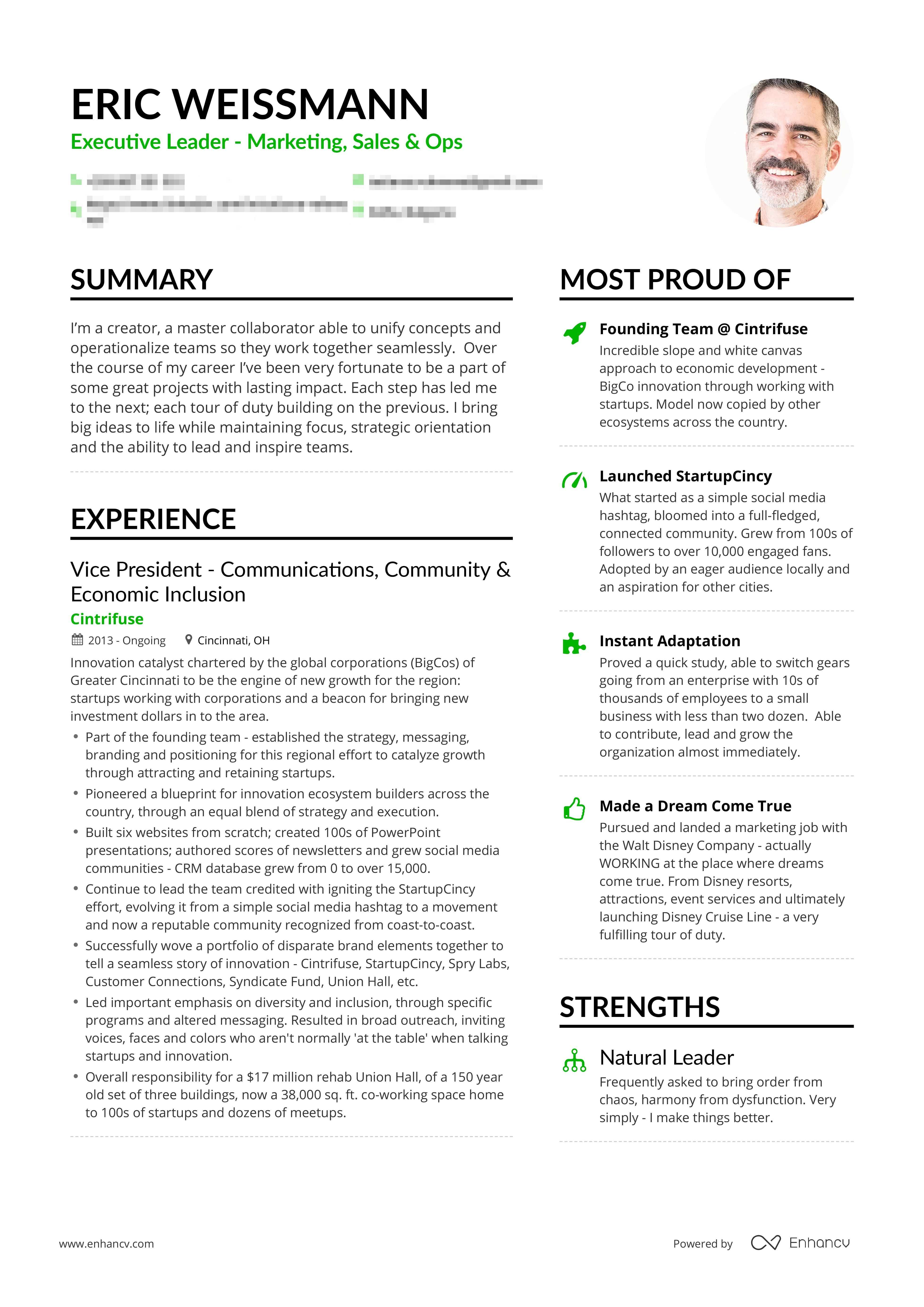 Example Of Successful Entrepreneur S Resume Free Resume Examples Professional Resume Examples Resume Examples