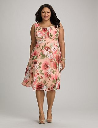 Plus Size Ruched Floral Dress in 2019 | Dress barn dresses ...