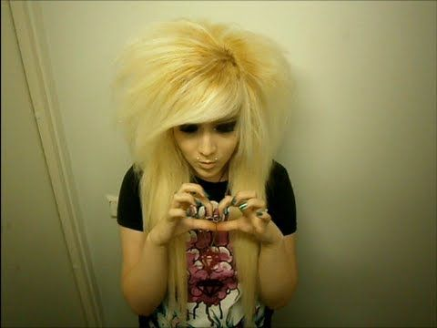 How To Make Big Scene Hair With Extensions YouTube Video - Emo girl hairstyle video