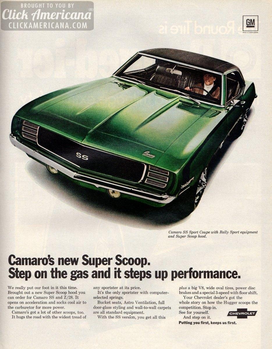 Camaro's new Super Scoop (1969)