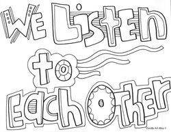 Classroom Rules Coloring Pages At Doodles By Doodle Art Alley