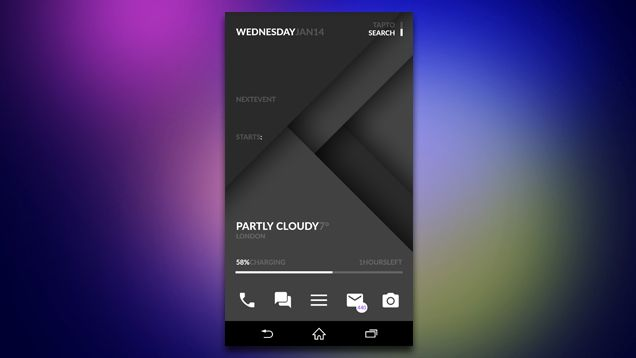 The Black Material Home Screen