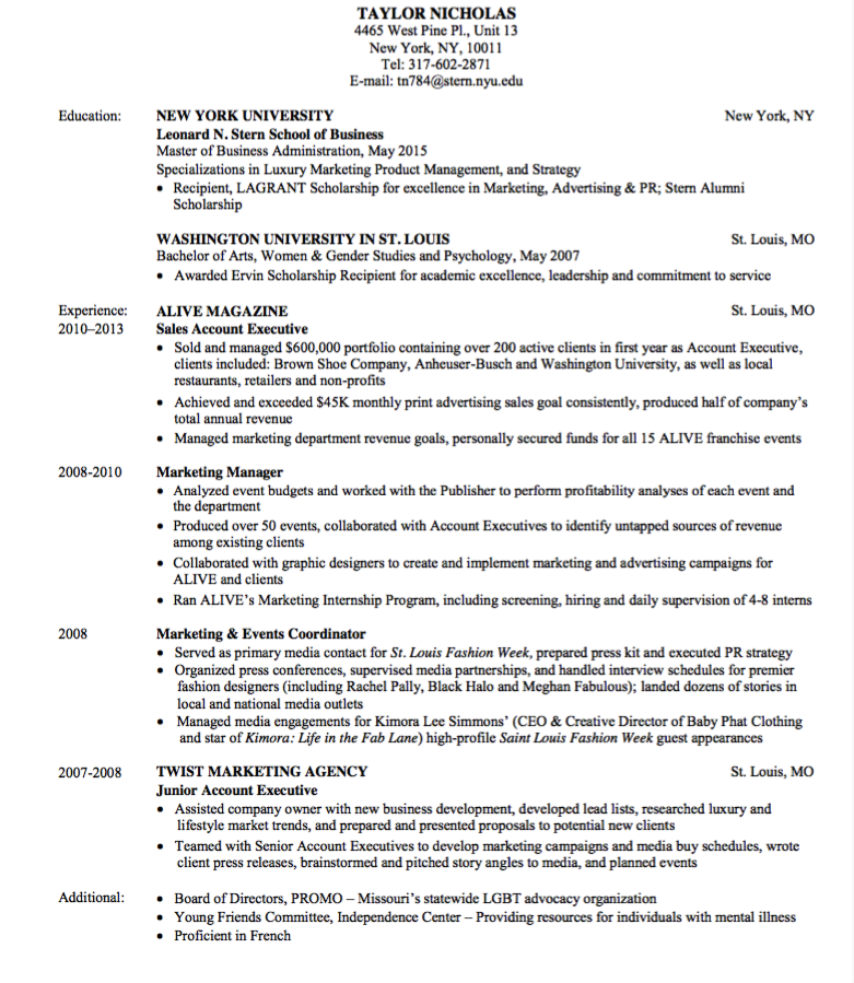 Marketing Resume Sample  HttpExampleresumecvOrgMarketing