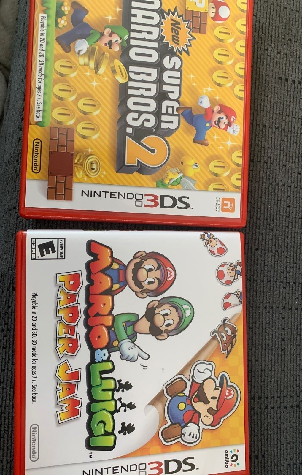 Two Mario Games In Cases Make Offer Super Mario Bros 2 Goes For 30 At Gamestop Paper Jam 35 Asking 38 For Both Mario And Luigi Super Mario Bros Mario Games
