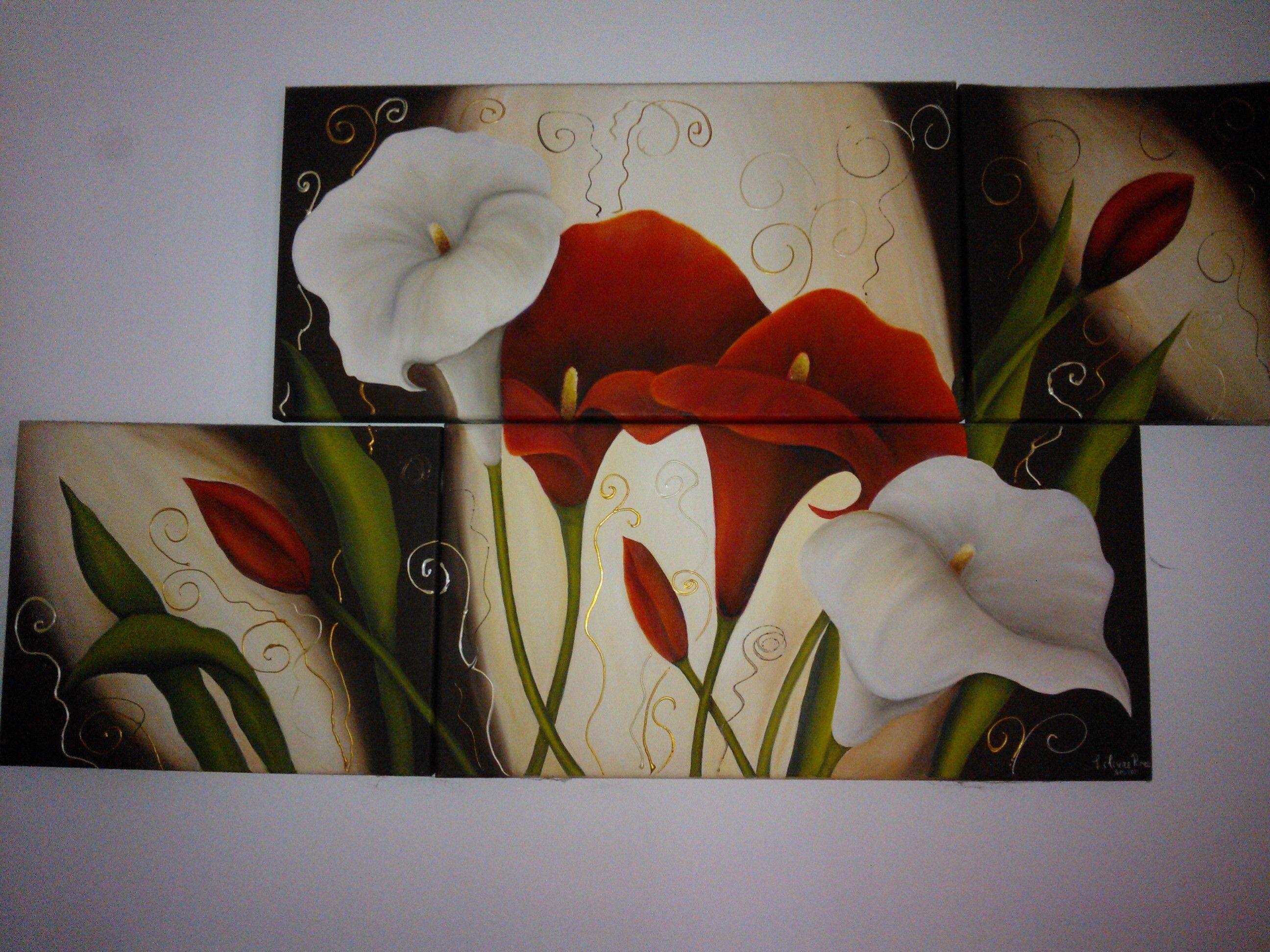 oleo en 4 bastidores | calla | Pinterest | Art studios, Paintings ...