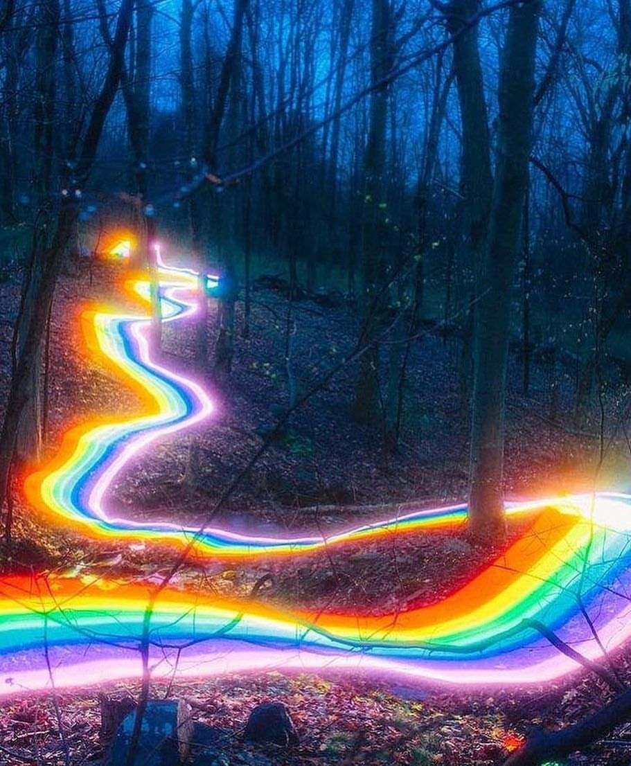 Follow Your Own Path By Danielmercadante Rainbow Aesthetic Rainbow Road Rainbow Art