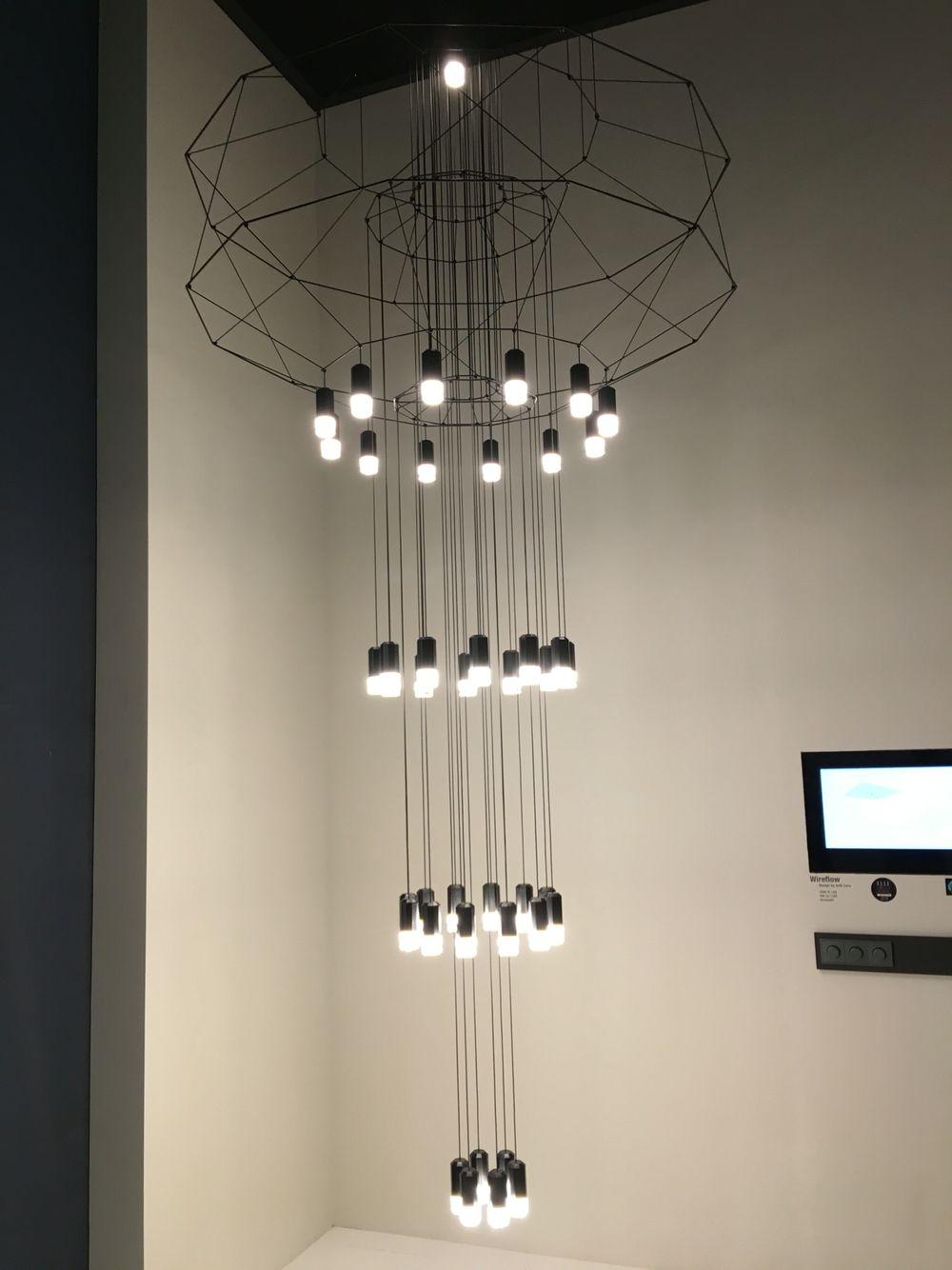 Wireflow chandelier di Vibia