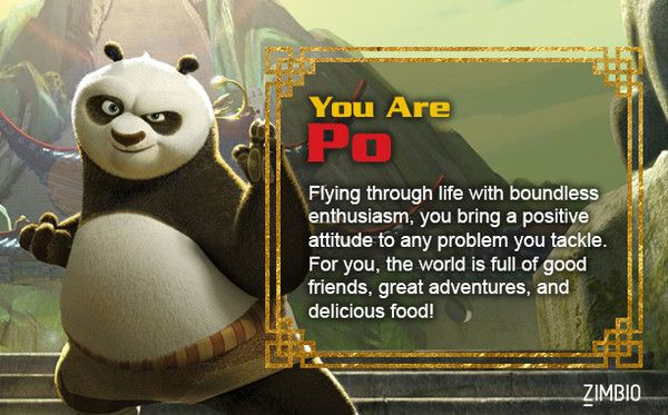 Which Kung Fu Panda Character Are You Kung Fu Panda Kung Fu Panda Quotes Kung Fu
