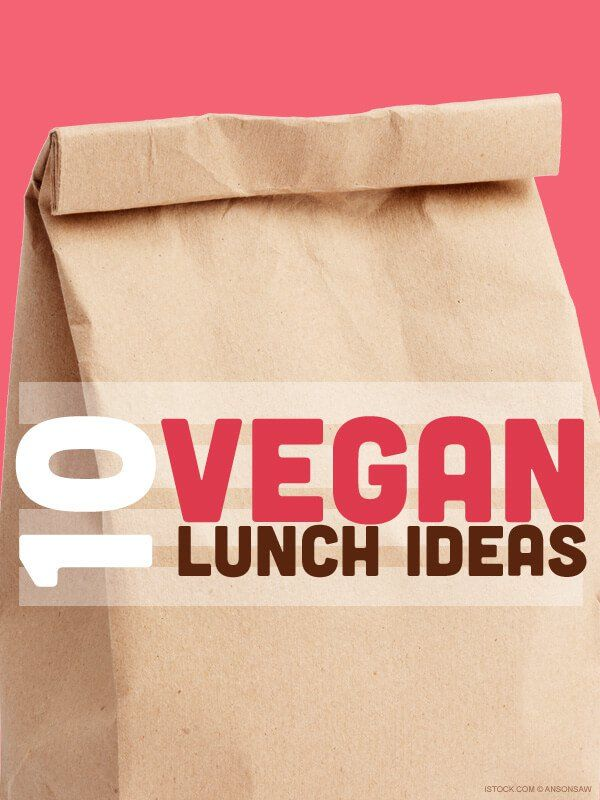 Ten deliciously vegan ways to pack your family's lunch bag.