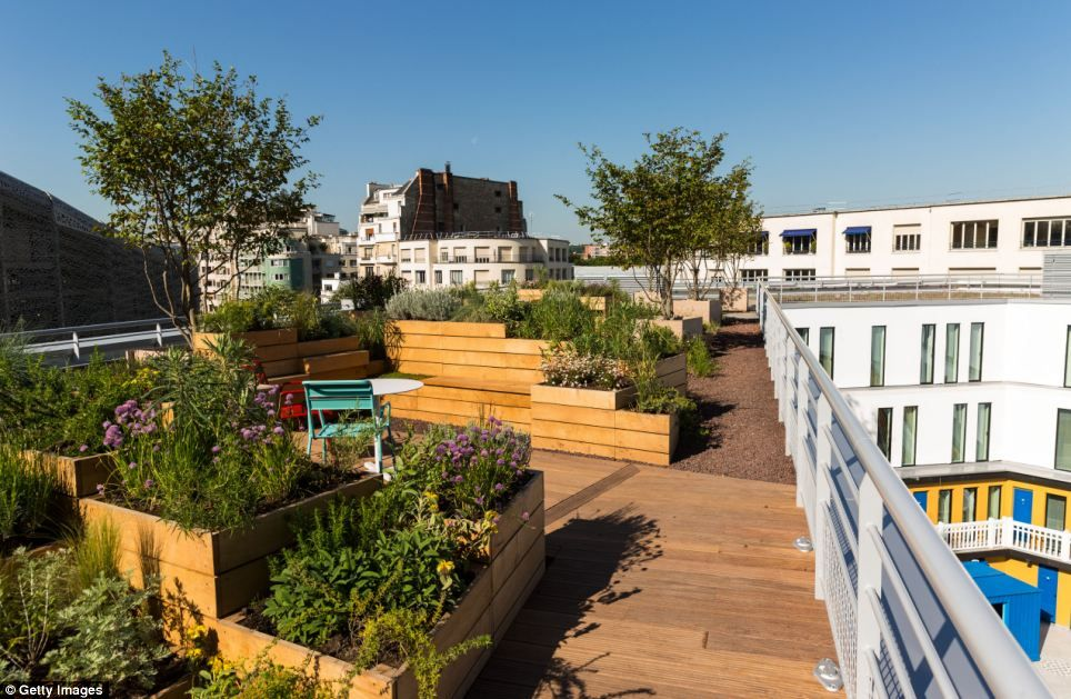 A Garden On The Roof Top Of The Piscine Molitor Which Was Reopened
