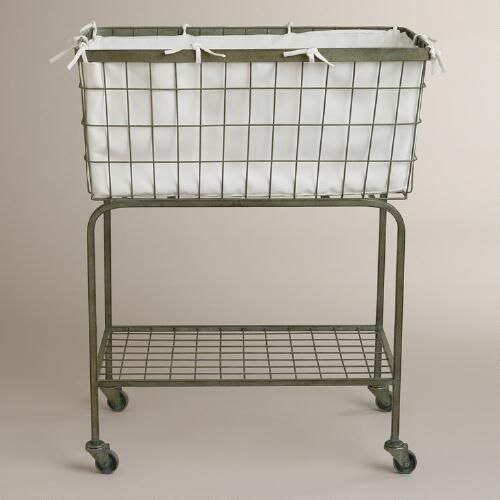Vintage In Style Our Ellie Rolling Laundry Cart Is An Attractive