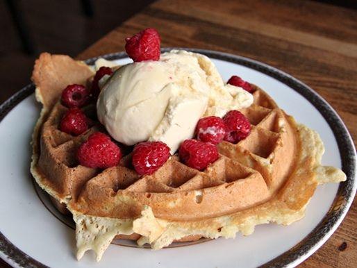 bacon-filled waffle