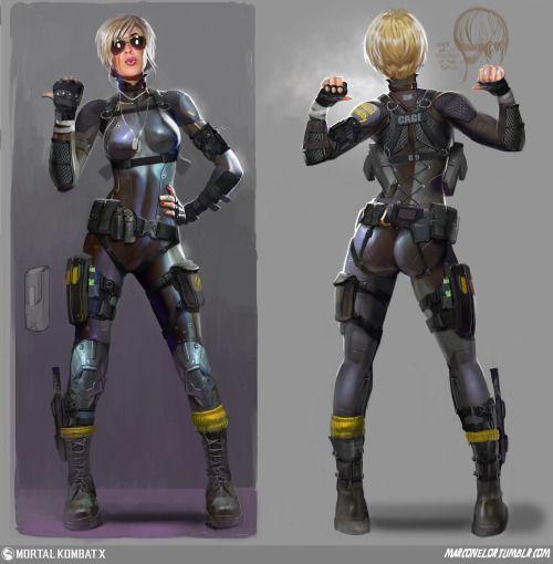 cassie Cage concept for Mortal Kombat x