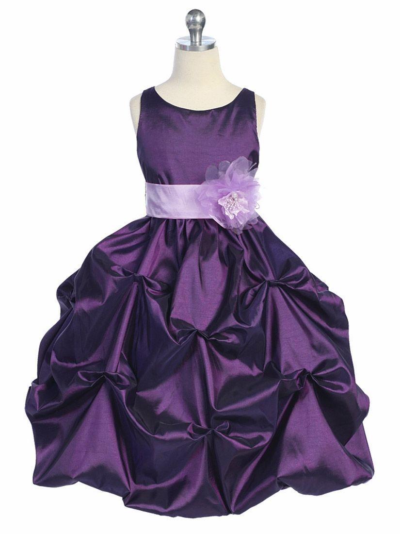 0a883dc4f7d9 Purple Lilac Taffeta Bubble Pick Up Dress