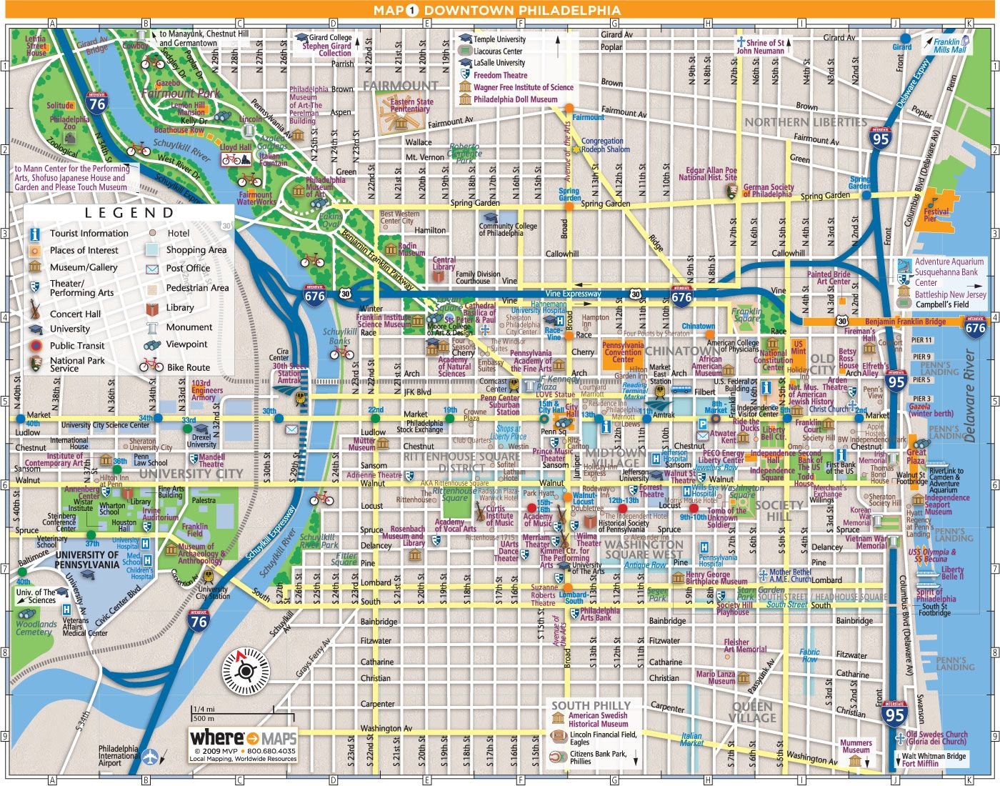 Downtown Map  Philly  Pinterest  Philadelphia Maps And