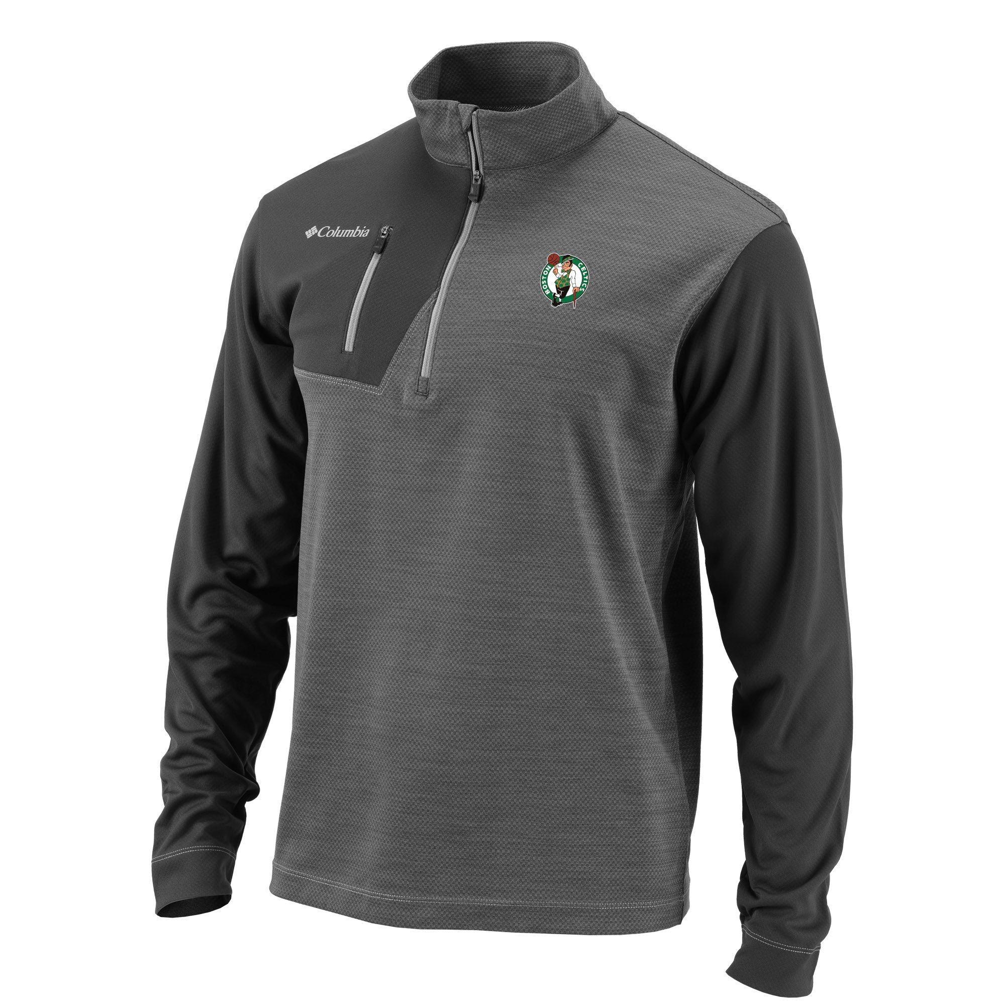 4f1420aac Men's Boston Celtics Columbia Gray Omni-Heat Regulation Quarter-Zip  Pullover Jacket