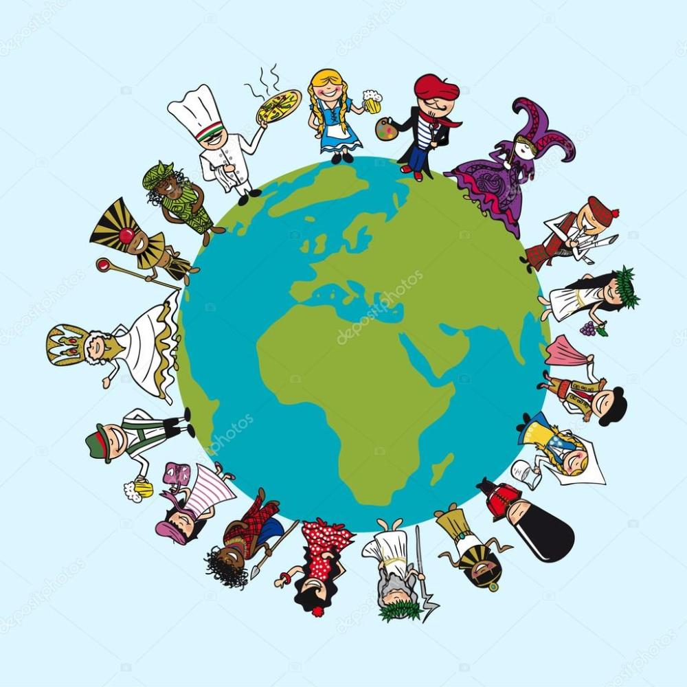 Foto Del Planeta En Caricatura Buscar Con Google Mapa Del Mundo Gente De Historieta Illustration