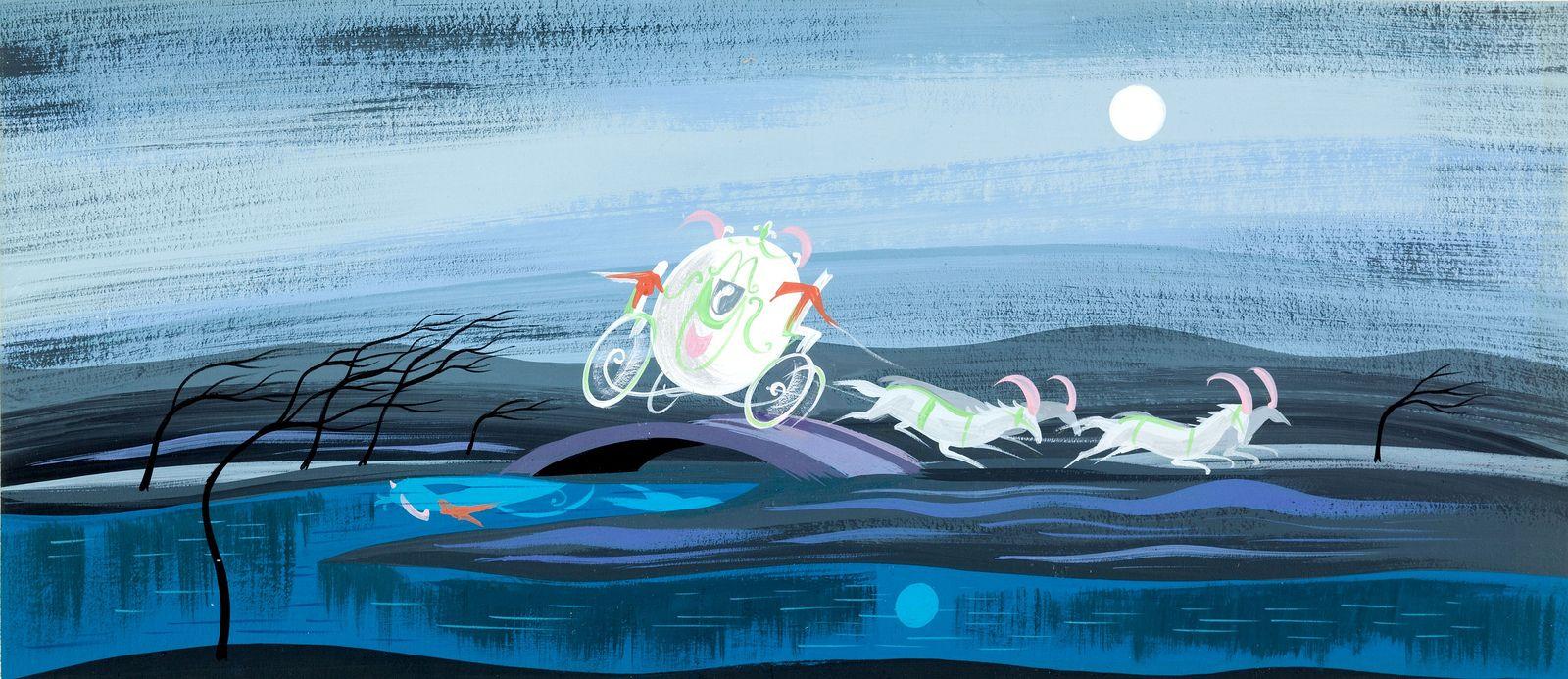 Mary Blair - Cinderella - carriage | Disney Concept Art, Color ...