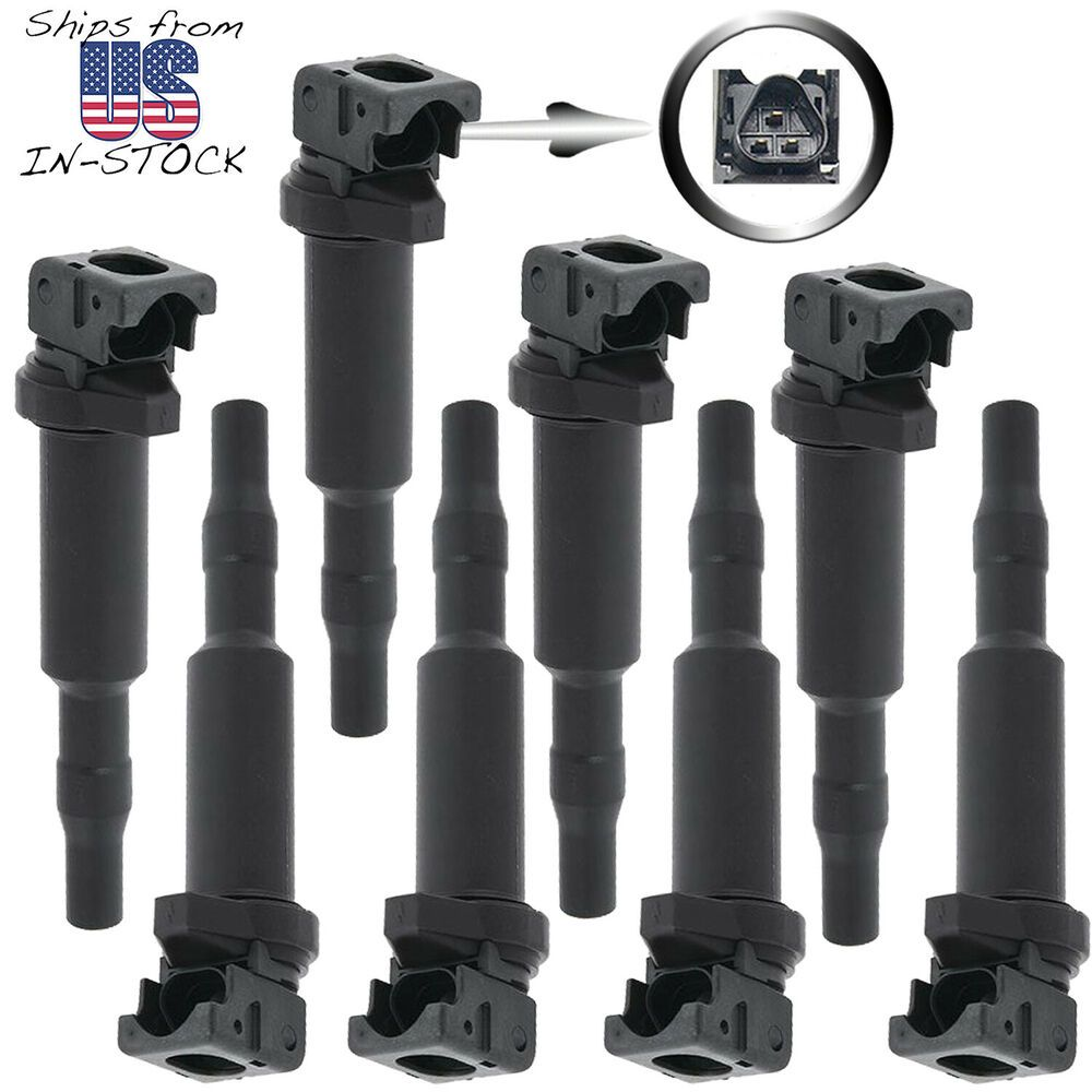 8pc ignition coil kit for bmw 5 6 7 x5 x6 m5 m6 44l