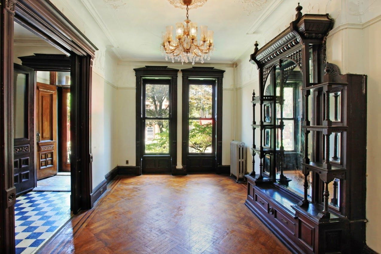Victorian Gothic Interior Style Design Brooklyn New York Union Street Brownstone