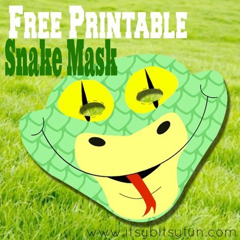 Free Printable Snake Mask Template Snake Party Reptile Party